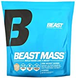 Beast Sports Nutrition Beast Mass - Build Lean Muscle Mass with This High Quality Weight Gainer. Contains 1340 Calories Per Serving with 55 Gms Protein. Very Low Fat and Sugar. 12 Pounds, Vanilla