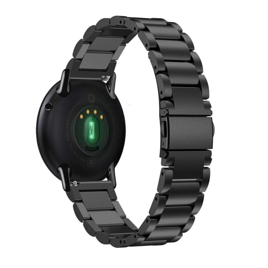 Bestow Huami Amazfit A1602 Correa de Reloj Banda de Acero Inoxidable Reloj de Pulsera de Metal Banda Reloj Inteligente Reloj de Pulsera de aparatos ...