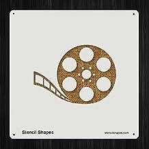 Film Cinema Reel Movie Movies, Style 9931 DIY Plastic Stencil Acrylic Mylar Reusable