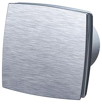 Ventilador de salida con embellecedor delantero de aluminio cepillado, con temporizador: Amazon.es: Bricolaje y herramientas
