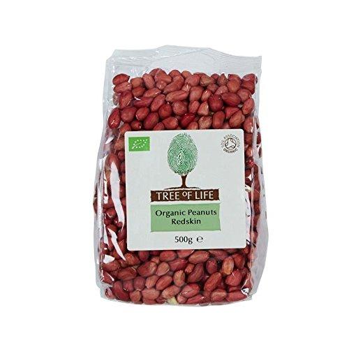 Tree of Life Organic Peanuts Redskin 500g - Pack of 6