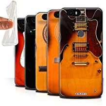 STUFF4 Gel TPU Phone Case / Cover for Huawei Nexus 6P / Multipack (6 Designs) / Guitar Collection