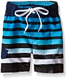 Kanu Surf Little Boys' Toddler Reflection Stripe Swim Trunk, Navy, 4T