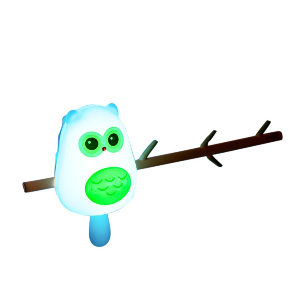 Vacally Cute Animal Hook Wall Lamp Home Decoration USB LED Bedside Night Light Lovely Light For Kids (Multicolor B)
