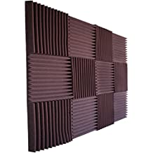 "12 Pack- All Burgundy Acoustic Panels Studio Foam Wedges 1"" X 12"" X 12"""