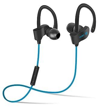 Auricular Bluetooth inalámbrico Sport auriculares 4.1 Auriculares estéreo intraurales doble gancho de oreja Auriculares para Running (a prueba de sudor, ...