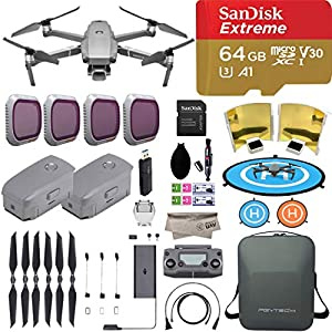 DJI Mavic 2 Pro Drone Quadcopter with Hasselblad Camera, comes 2 Batteries, 64GB Extreme Micro SD, PGY ND Filter, Landing Pad, Signal Booster, Water Resistant Carrying Case, 1 Year Limited Warranty 51tMPQBedpL