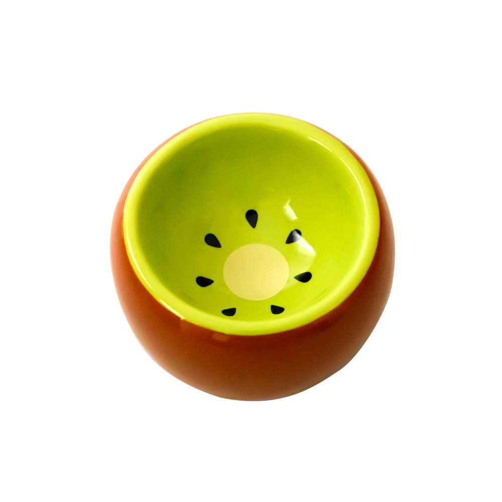 Hamster Bowl Ceramic Prevent Tipping Moving and Chewing Wonderful Food Dish for Small Rodents Gerbil Hamsters Mice Guinea Pig Cavy Hedgehog and other Small Animals (Kiwi)