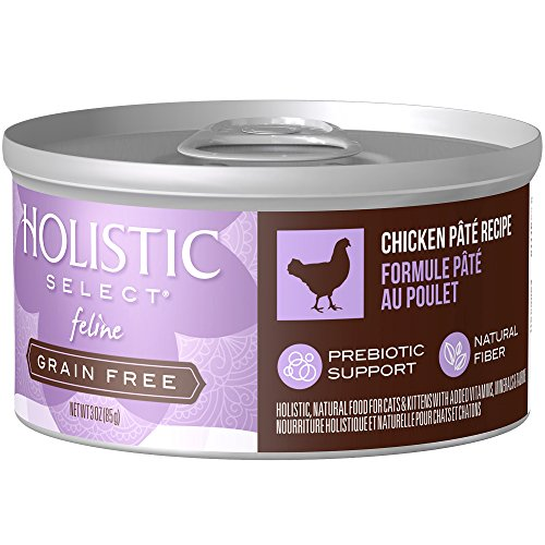 Holistic Select Natural Wet Grain Free Canned Cat Food, Chicken Pâté Recipe, 3-Ounce Can (Pack Of 24) (Pack Cat Eagle Food)