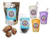 10+ Drinks Taro Boba Tea Kit: Tea Powder, Tapioca Pearls & Straws By Buddha Bubbles Boba