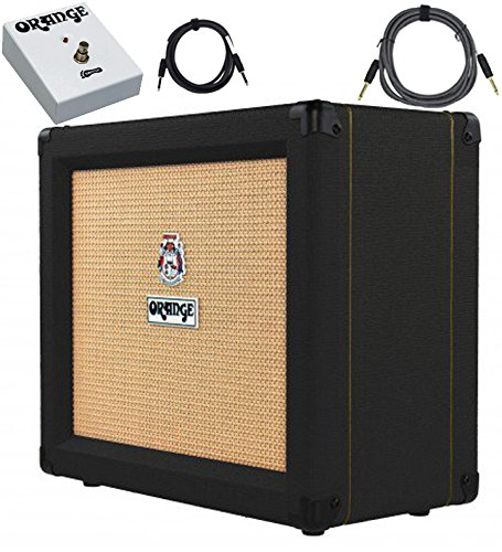 Orange Crush 35RT Black 35-Watt Combo w/ Reverb & Tuner Footswitch Cables Bundle by Orange