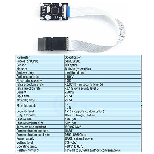 CQRobot Optical Sensor Fingerprinting Module, ART Fingerprint Reader for Fingerprint Lock, Fingerprint Safe Deposit Box, Access Control System, Person Identification, Authority Management. by CQRobot (Image #7)