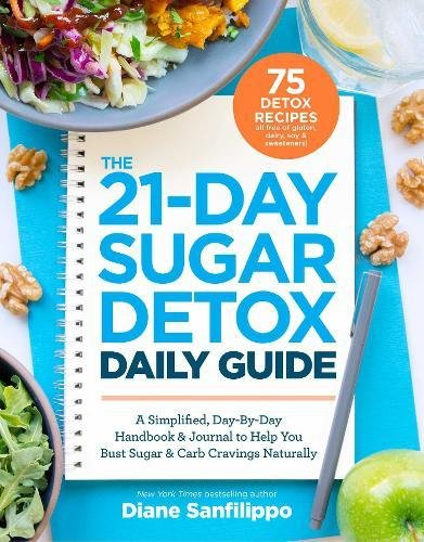 The 21-Day Sugar Detox Daily Guide: A Simplified, Day-By Day Handbook & Journal to Help You Bust Sugar & Carb Cravings Naturally by Diane Sanfilippo