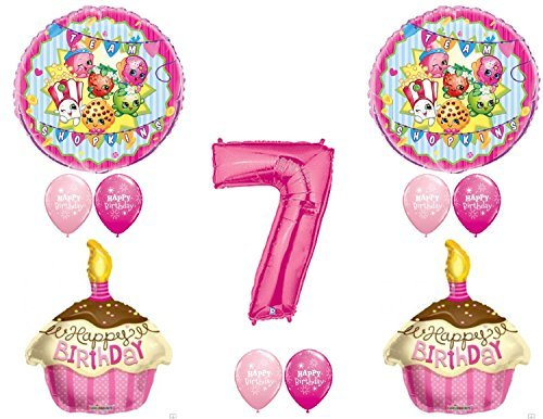 SHOPKINS 7th Seventh BIRTHDAY PARTY Balloons Decorations