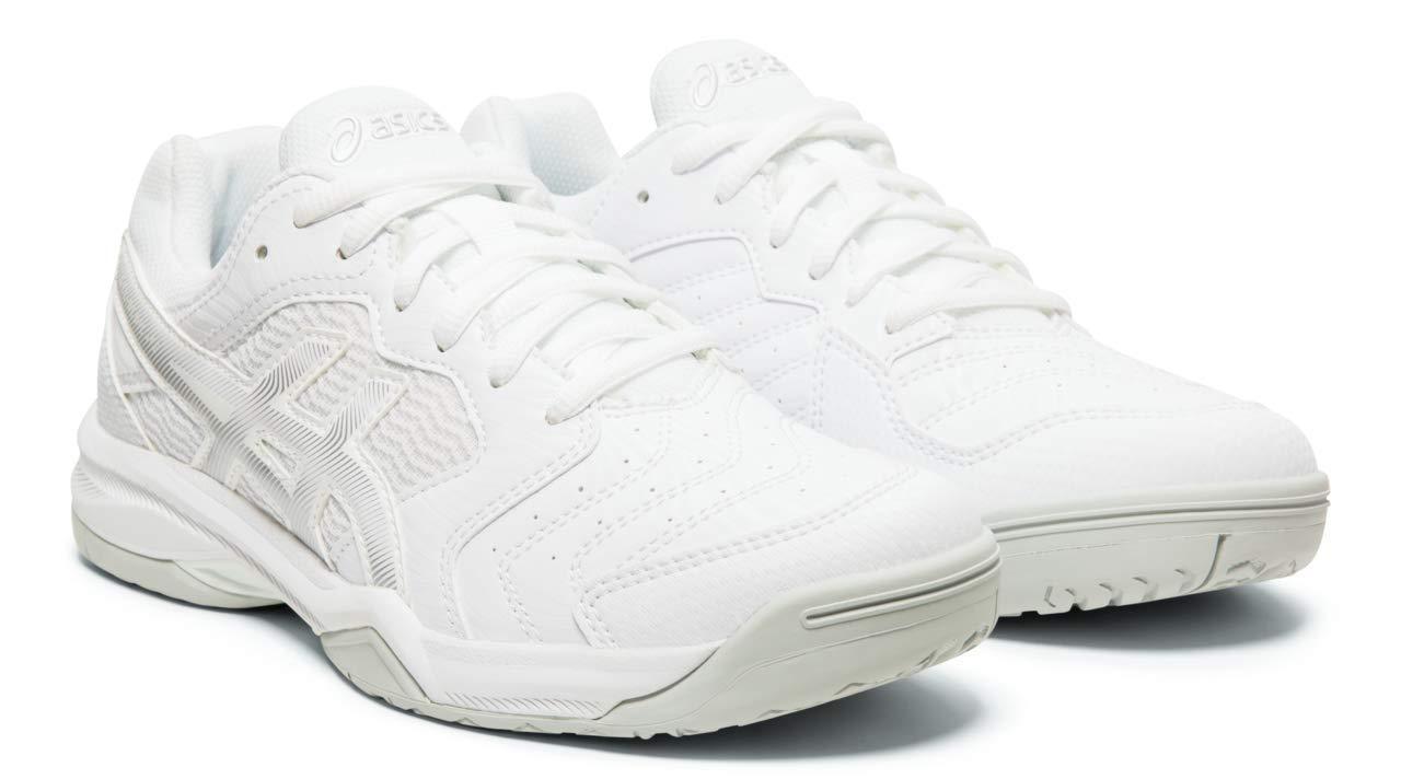 ASICS Gel-Dedicate 6 Women's Tennis Shoes, White/Silver, 8 M US by ASICS