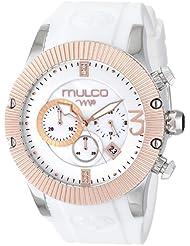 MULCO Unisex MW5-2828-013 Analog Display Japanese Quartz White Watch