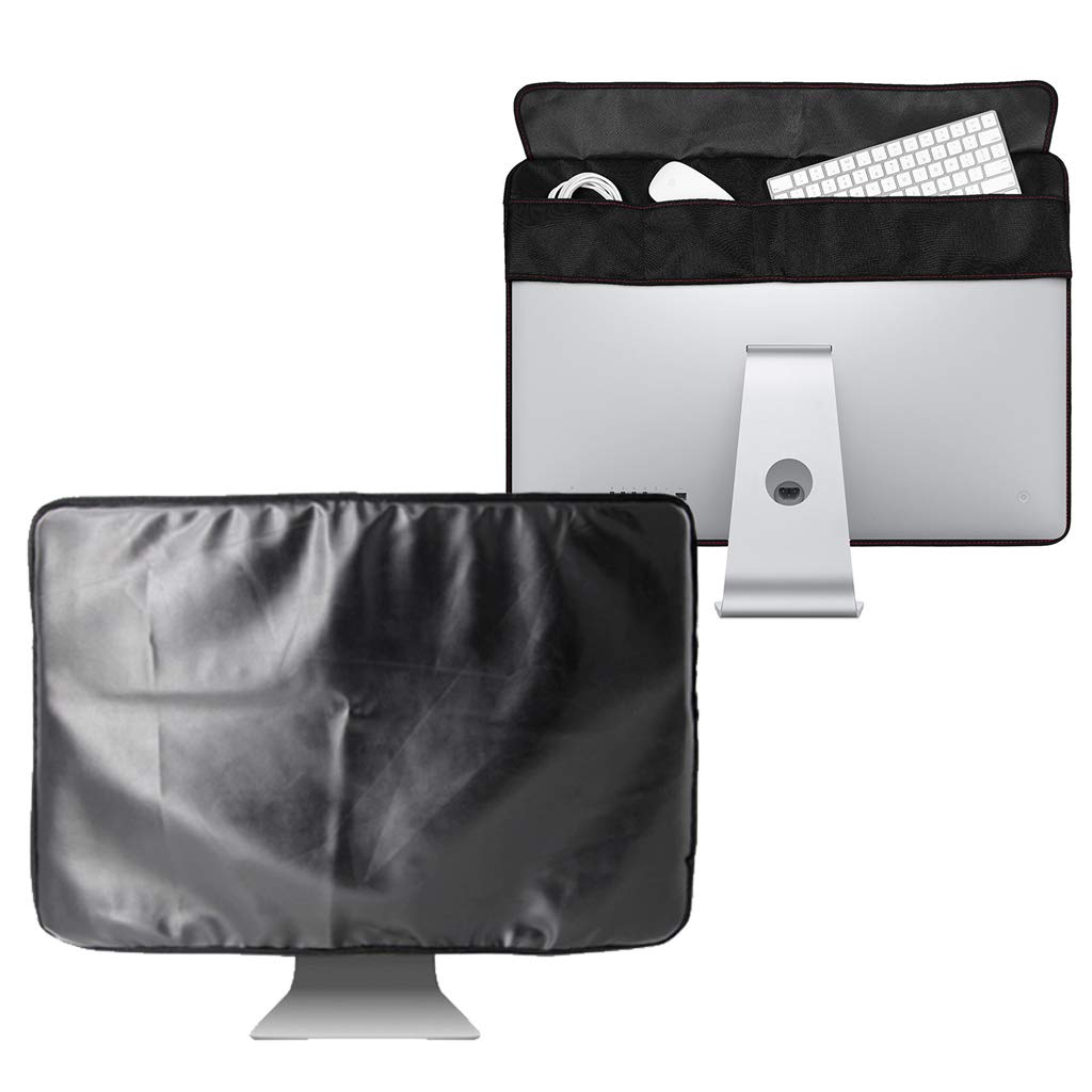 21.5 inch Black Polyester Computer Monitor Dust Cover Protector with Inner Soft Lining for Apple iMac LCD Screen (21.5inch)
