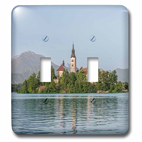Danita Delimont - island - Slovenia, Bled, Bled Island - Light Switch Covers - double toggle switch (lsp_228182_2) by 3dRose