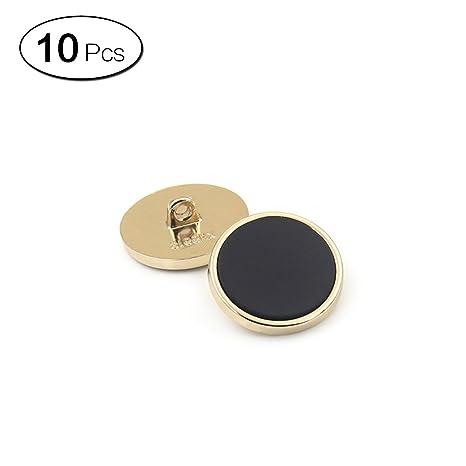 Vástago Negro superficie plana botón redondo con borde de ...