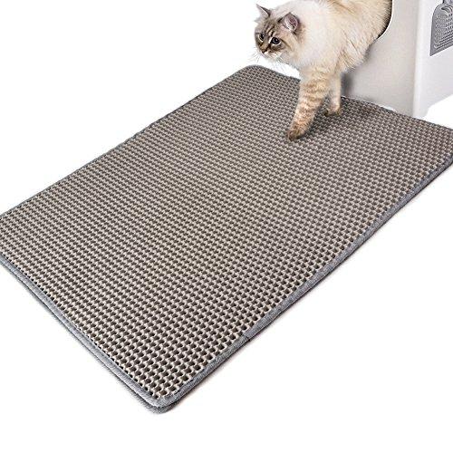 WooPet! Cat Litter Mat Jumbo 30 X 23 Grey, XL Extra Large