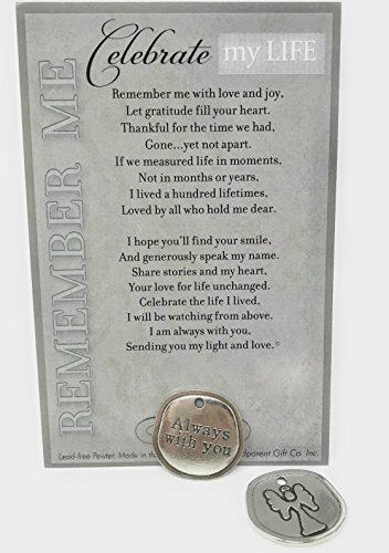 Bereavement/Sympathy/Remembrance/Memorial/Inspirational Keepsake Pewter Coin with