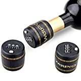 WDTPRO Combination Lock for Wine & Liquor Bottle-Wine Whiskey Bottle Top Stopper - Bottle Password Code Lock - Wine Digital Lock - Locking Cap Preservation not Air Tight Device ...