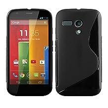 kwmobile TPU SILICONE CASE for Motorola Moto G (2013) Design S Line black - Stylish designer case made of premium soft TPU