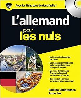 Amazon Fr L Allemand Pour Les Nuls 2e Edition Paulina
