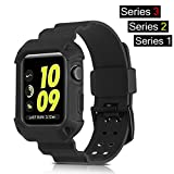 Apple Watch Band 42mm, BKING-BOX All-in-one Rugged Armor Protective Case with Strap Bands for Apple Watch Series 3, Series 2, Series 1 all editions