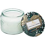 Voluspa French Cade Lavender Small Embossed Glass Jar Candle, 3.2 ounces