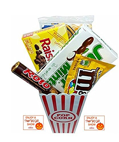 Spooktacular Movie Night Gift Basket ~ With Popcorn, Candy and 2 Free Redbox Movie Rentals (Junior Mints)