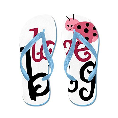 CafePress Lovebug - Flip Flops, Funny Thong Sandals, Beach Sandals Caribbean Blue