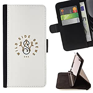 - Queen Pattern FOR Samsung Galaxy S6 /La identificaci????n del cr????dito ranuras para tarjetas tir????n de la caja Cartera de cuero cubie - wild side brand initials minimalist -