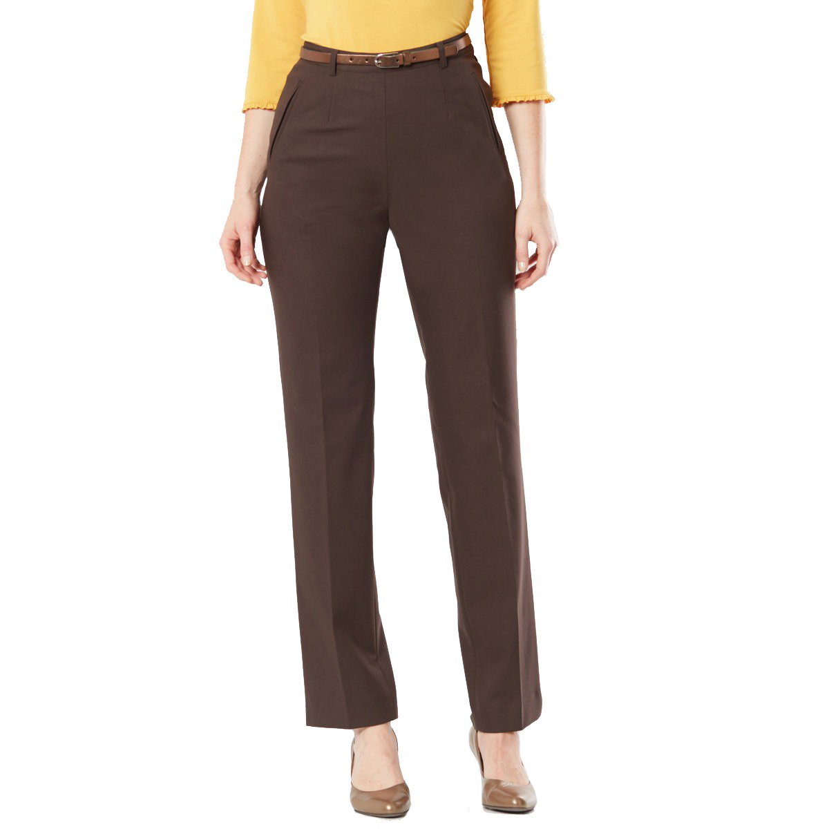 La Redoute Womens Straight Trousers Brown Size Us 8 - Fr 38