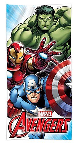 Disney Fiber Reactive Beach Towel 30x60 inches - Mighty Avengers - by SL Home Designs