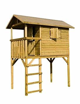Casa palafitta para niños madera autoclave 34310 Piccolo L245h300p150cm: Amazon.es: Jardín