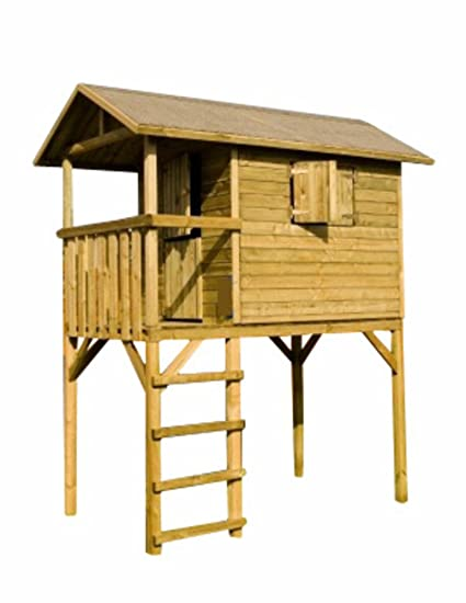 Casa palafitta para niños madera autoclave 34310 Piccolo L245h300p150cm