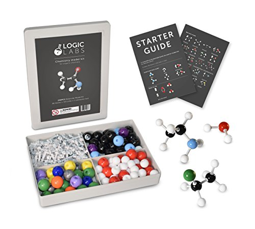 LogicLabs Organic Chemistry Model Kit (239 pieces) - with Starter guide Atoms and Bonds. Molecular Model Student or Teacher pack.