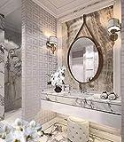 HofferRuffer Round Wall Mirror Strap Mirror