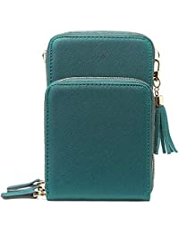 Small Crossbody Cell Phone Purse for Women, Mini Messenger Shoulder Bag Wallet with Credit Card Slots,Navy Blue