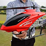 Ycco RC Drone Toy for Kids Teenage Boys Gifts USB Charging Cable Remote Control Helicopter Toys with LED Stabilizing System Indoor/Outdoor RC Helicopter 3.5 Channels (Red) (Color : Red-1)