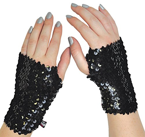 [Morris Custumes Monster High Arm Warmer One Size Fits Most Black] (Monster High Arm Warmer)