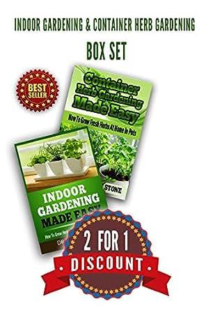 Indoor gardening container herb gardening box set the for Indoor gardening amazon