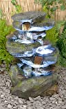 Bekko Falls 3 Tier Cascading Water Feature with LED Lights