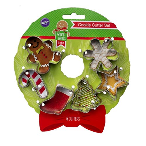 Wilton Holiday Mini Cookie Cutter set (6)
