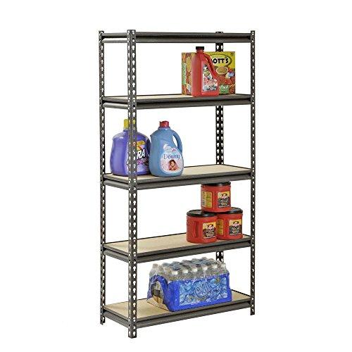 Muscle Rack 5-Shelf Steel Shelving, Silver-Vein (12