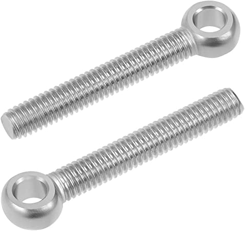 2X M6 304 Stainless Steel Eye Bolt Screw For Lifting Machinery Fastener Hardware