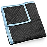 Sure-Max Moving & Packing Blanket - Ultra Thick Pro - 80'' x 72'' (65 lb/dz weight) - Professional Quilted Shipping Furniture Pad Black
