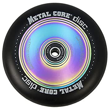 Metal Core Rueda Disc para Scooter Freestyle, Diámetro 100 mm (Negro): Amazon.es: Deportes y aire libre
