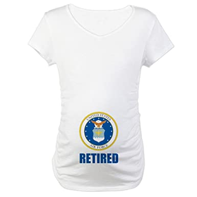 cdc4c975 CafePress U.S. Air Force Retired Maternity Tee at Amazon Women's ...